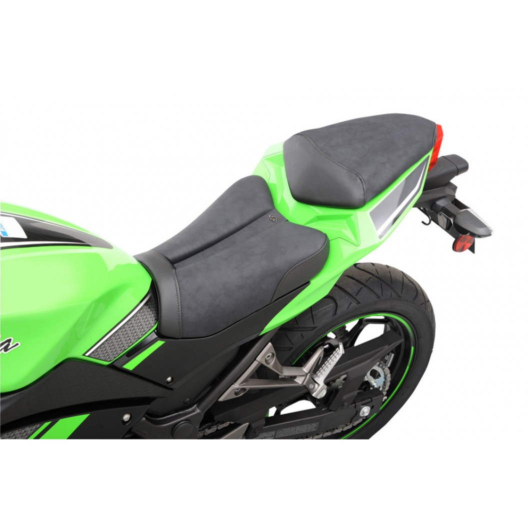 2013-2017 Ninja 300 Sport Solo Seat (with Matching Pillion Cover)