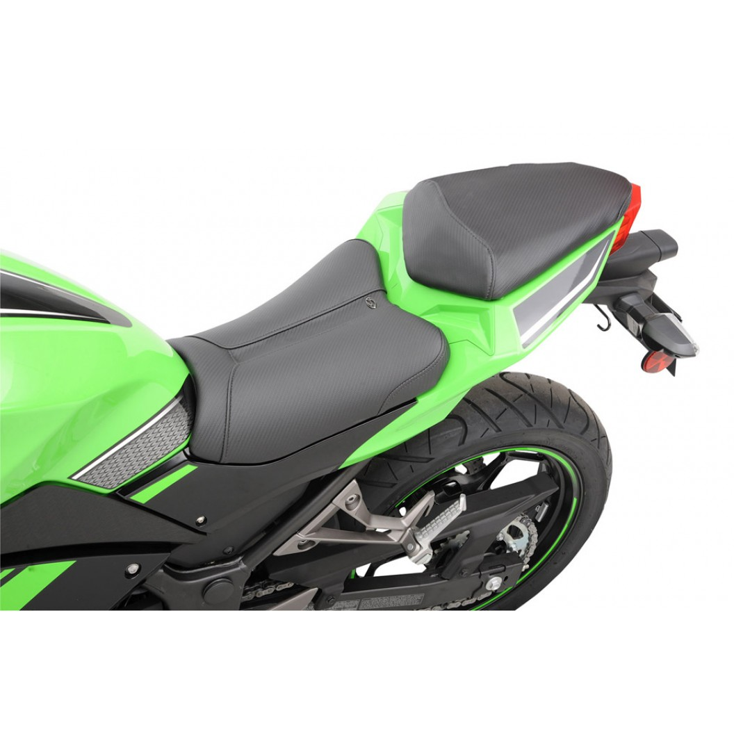 2013-2017 NINJA 300 Low Track CF Solo Seat (with matching pillion cover)