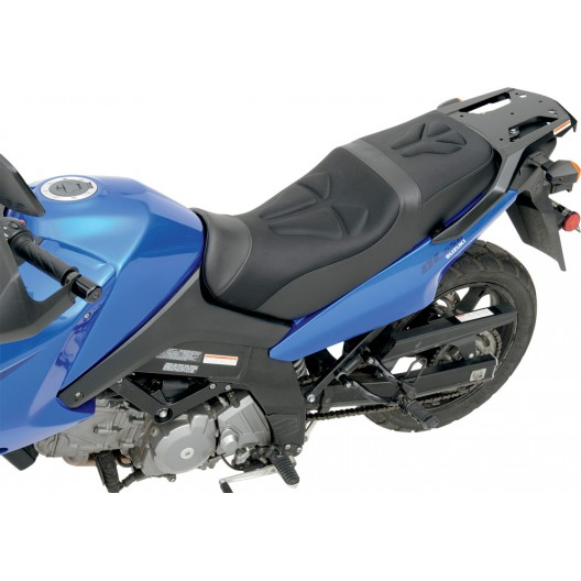 2002-2013 DL1000 (02-13) & DL650 (04-11) V-STROM Tech Style Gel Channel Seat (1 pc, 2-up)