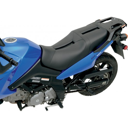 2002-2013 DL1000 (02-13) & DL650 (04-11) V-STROM Track CF Style Gel Channel Seat (1 pc, 2-up)