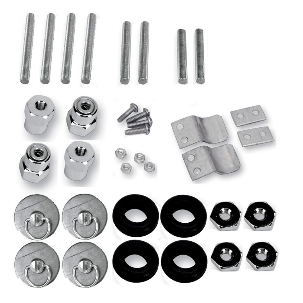 S4 Quick Disconnect Docking Post and Fastener Kit (3501-0339)(H-D Sportster)