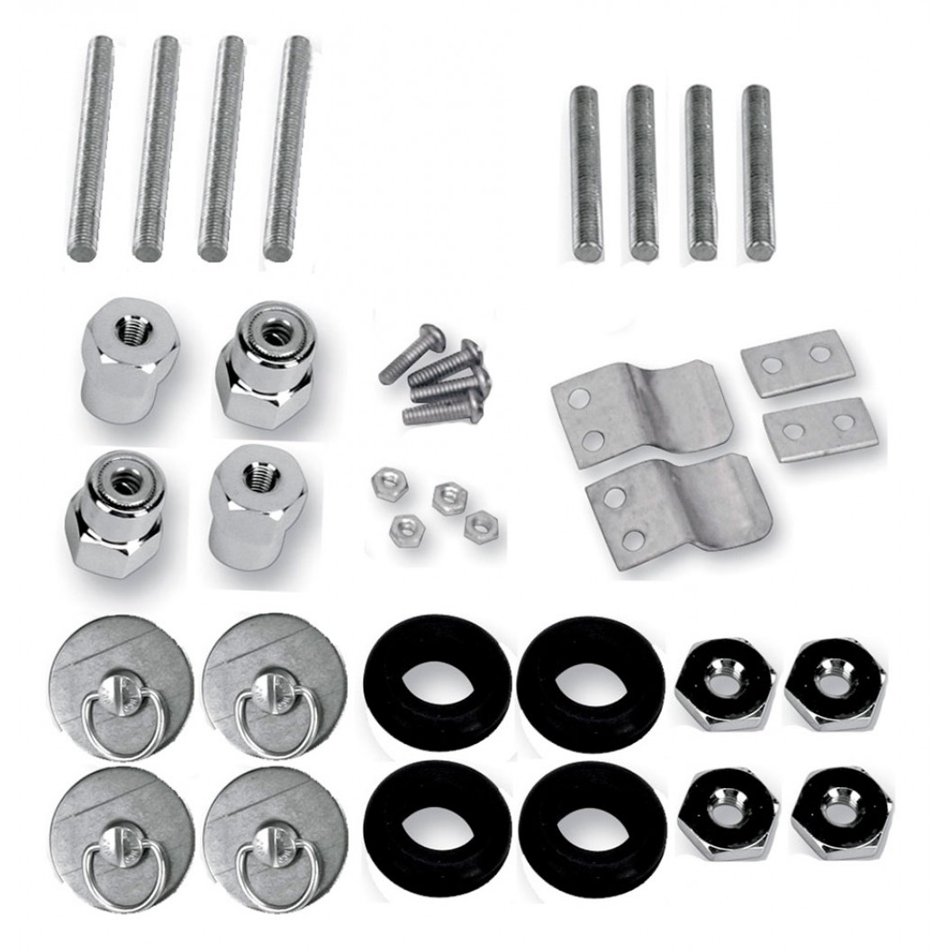 S4 Quick Disconnect Docking Post and Fastener Kit (3501-0341)(H-D Softail)