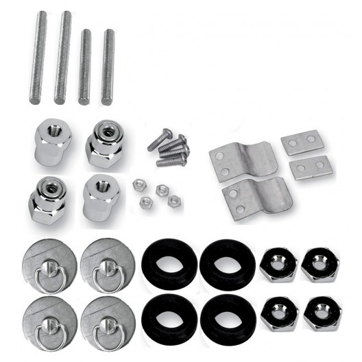 S4 Quick Disconnect Docking Post and Fastener Kit (3521-0004)(Indian / Kawasaki / Suzuki)