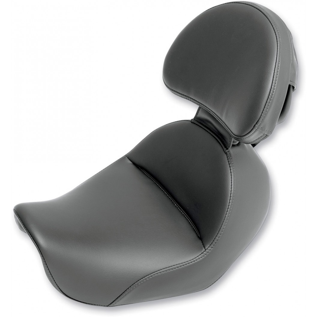 "2006-2017 FXD, FXDWG, FLD Dyna Renegade™ ""Heels Down"" Solo Seat with Driver's Backrest"