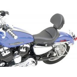 """2004-2020 Sportster Renegade™ """"Heels Down"""" Solo Seat w/ Driver Backrest (4.5G Tank)"""