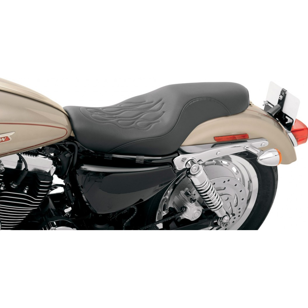 2004-2019 Sportster Profiler™ TATTOO with Stitched Flame (4.5G Tank)
