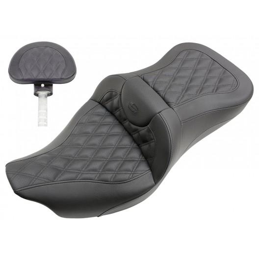 2008-2020 FLHR, FLHT, FLHX & FLTR Extended Reach Roadsofa™ LS Seat with Driver's Backrest
