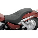 2004-2009 VTX1300C Profiler™ Tattoo Seat with Stitched Flame