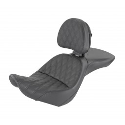 2006-09 FXST/B/S Standard, 2007-17 FLSTF/B/S Fatboy Explorer™ LS Seat with Driver's Backrest