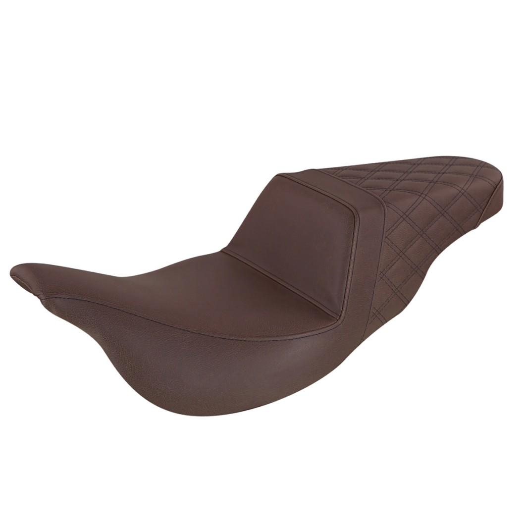 2008-2020 FLHR, FLHT, FLHX & FLTR Brown Step-Up™ Rear LS Seat