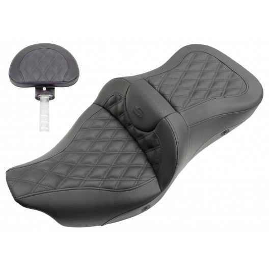 2008-2020 FLHR, FLHT, FLHX & FLTR Heated Roadsofa™ LS Seat with Driver's Backrest
