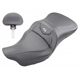 2008-2020 FLHR, FLHT, FLHX & FLTR Heated Roadsofa™ CF Seat with Driver's Backrest