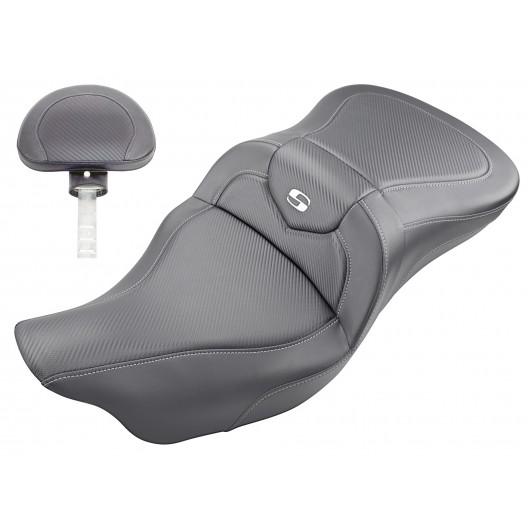 2008-2020 FLHR, FLHT, FLHX & FLTR Roadsofa™ CF Seat with Driver's Backrest