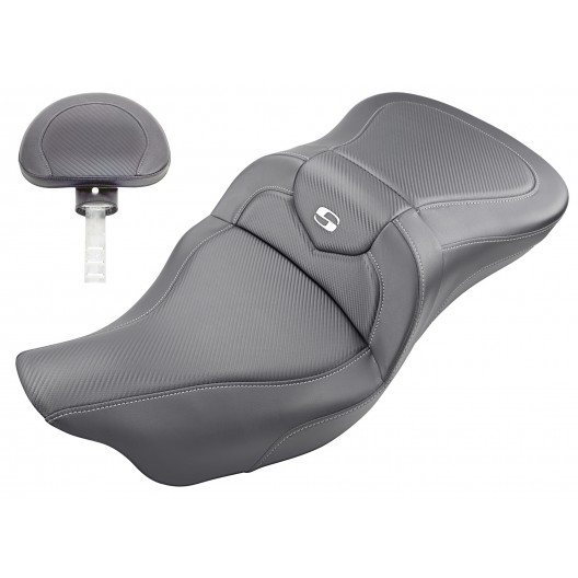 2009-2020 FLHTCUTG Tri Glide Roadsofa™ CF Seat with Driver's Backrest