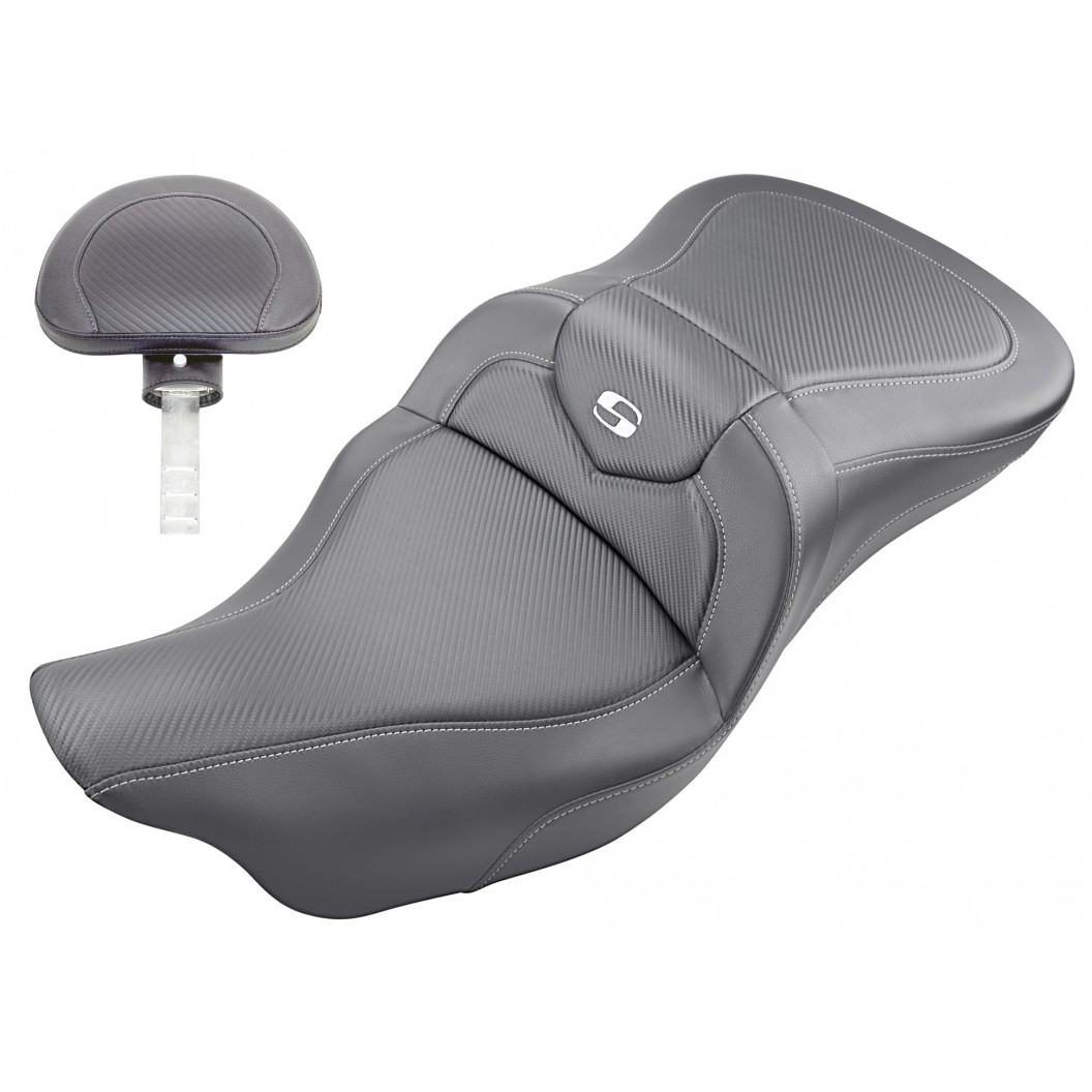 2008-2020 FLHR, FLHT, FLHX & FLTR Extended Reach Roadsofa™ CF Seat with Driver's Backrest