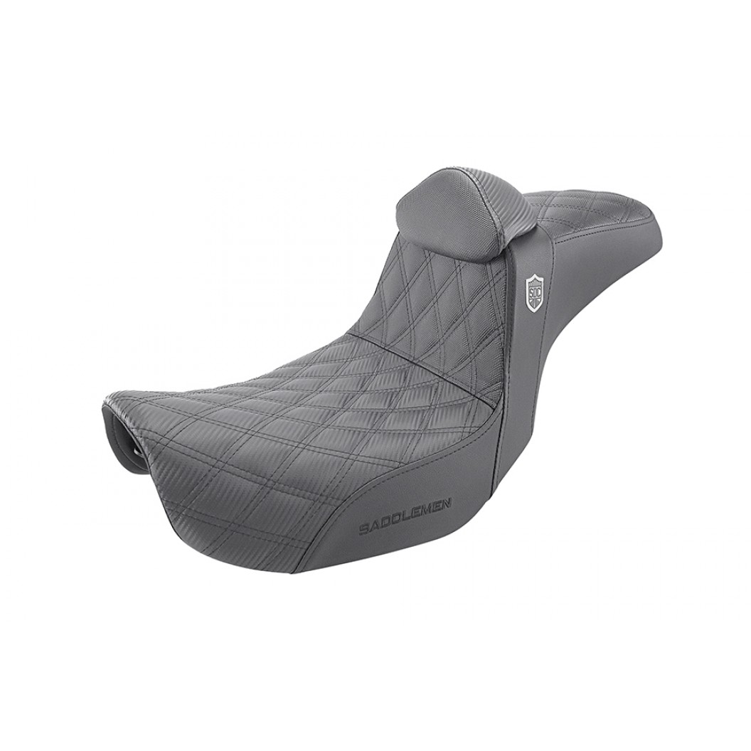 2006-2017 FXD, FXDWG, FLD Dyna Pro Series SDC Performance Gripper Seat with Driver's Lumbar Rest