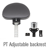 pt adjustable backrest
